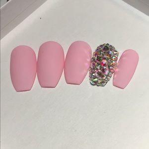 Custom Bling Coffin Press on Nails